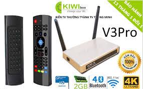 Combo Android Tivi Box Kiwi V3 pro + Chuột bay KM800 - Bản cập nhập 7.1.2