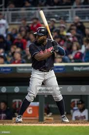 Abraham Almonte of the Cleveland Indians bats against the ...