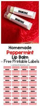 homemade peppermint lip balm love to