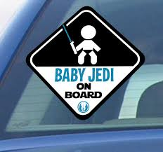 Baby Jedi On Board Car Sticker Tenstickers
