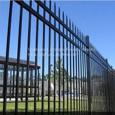 Tubular Steel Fence Buy 6ft High 3 Rail Flat Top Fence Panels Design Veranda Fencing On China Suppliers Mobile 159074203