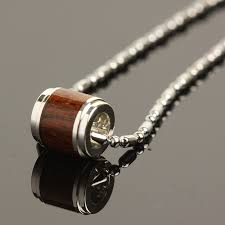 jewelry silver koa wood pendant 8mm