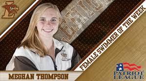 Meghan Thompson of Lehigh Swimming and... - Lehigh Athletics ...