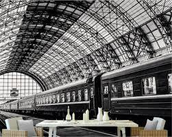 Beibehang مخصص صور خلفيات 3d جدارية خلفيات بسيطة قطار محطة الأسود