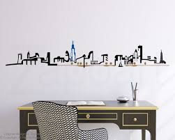 Night Chicago Skyline Wall Decal Philadelphia Skyline Wall Decals Vinyl Wall Decals