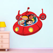 Little Einsteins Spaceship Wall Decal Space Wall Decal Murals Space Wall Decals Sports Wall Decals Kids Room Wall Decals