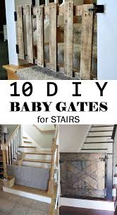 10 Diy Baby Gates For Stairs Diy Baby Gate Baby Gate For Stairs Diy Baby Stuff