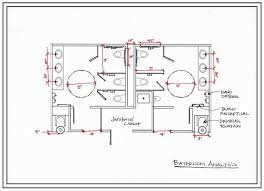 commercial bathroom layouts are