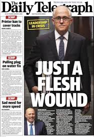 Daily Tele front page - Malcolm ...