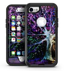 Inverted Abstract Colorful Watercolor Vivid Tree Iphone 7 Or 7 Plus Designskinz