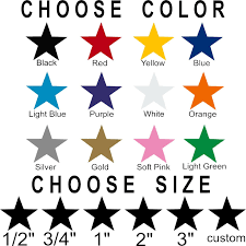 Star Stickers Pick Your Size And Color Permanent Outdoor Glossy Vinyl Decals Ebay