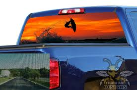 Chevy Silverado Rear Window Decals Perforated Graphics Surf