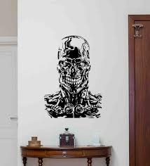 Terminator Wall Decal Movie Sign Robot Android Decal Vinyl Etsy