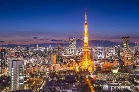 Tokyo Japan City Skyline Wall Mural Pixers We Live To Change