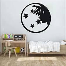 Amazon Com Cartoon Vinyl Wall Decal Dragon Ball Z Wall Art Boy Room Decoration Wukong With Four Star Wall Sticker 57x57 Cm Baby