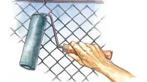 Painting Chain Link This Old House