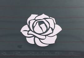 Rose Car Decal Flower Decal Run Wild Designs