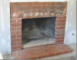 how i painted my red brick fireplace