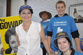 Pru Goward pictured with John Plews, Sam Rowland and Ms Goward's daughter  Alice. - ABC News (Australian Broadcasting Corporation)