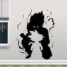 Goku Dragon Ball Kid Silhouette Wall Car Vinyl Decal Anime Wall Sticker Comics Home Decor For Teen Room Cool Gift Lz20 Wall Stickers Aliexpress