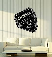 Amazon Com Large Vinyl Wall Decal Cinema Tickets Movie Film Theater Room Decor Stickers Mural Ig5360 Home Kitchen