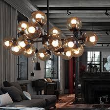 glass chandeliers lightings iron er