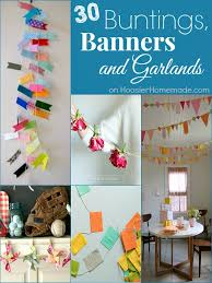 30 buntings banners and garlands