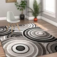 8 x 10 optimum black area rugs with