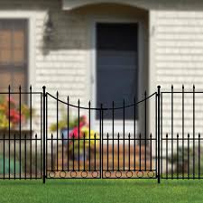 No Dig Grand Empire 3 Ft H X 4 Ft W Powder Coated Steel Walk Thru Gate In The Metal Fence Gates Department At Lowes Com