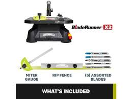 Rockwell Bladerunner X2 Portable Table Saw Scroll Rip And Miter Tool Newegg Com