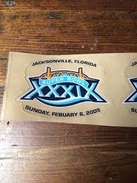 Superbowl Xxxix New England Patriots Logo Mini Helmet Decal Set Rare Nfl 3 Vtg 1817525109