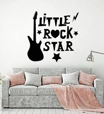 Vinyl Wall Decal Little Rock Star Electric Guitar Boy Girl Kids Room S Wallstickers4you