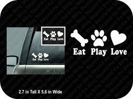 Dog Lover Car Window Decal Vinyl Car Window Decal Dog Lover Etsy