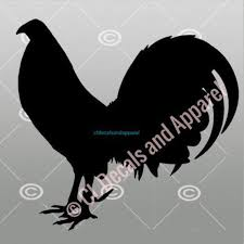 Lk Gamefowl Rooster Decal Etsy