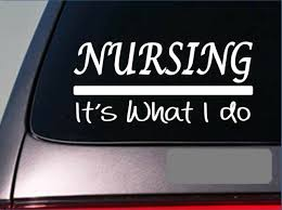 Nursing Sticker Decal E369 Doctor Uniform Hospital Scrubs Shoes Nurse Rn Lpn For Sale Online