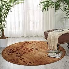nourison somerset latte round area rug