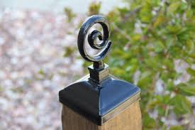Spiral Post Cap For 4x4 Fence Post Wrought Iron Fence Decor Etsy
