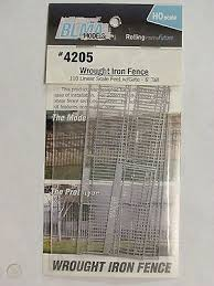 Blma Models Ho Scale Wrought Iron Fence 4205 Photo Etched 509374276