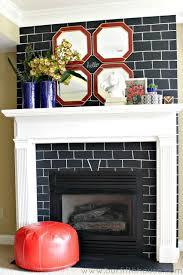 chalkboard brick fireplace makeover