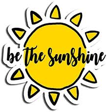 Amazon Com Be The Sunshine Sticker Sun Stickers Waterbottle Sticker Tumblr Stickers Laptop Stickers Vinyl Stickers Kitchen Dining