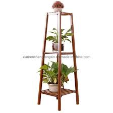 china 3 tire bamboo wooden plant stand