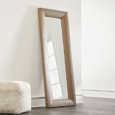 leaning mirrors crate and barrel
