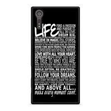 life quotes black sony xperia xz case onetex