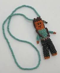 native american beaded necklace w