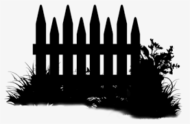 Silhouette Black And White Tree Fence Clip Black Garden Icon Png Free Transparent Clipart Clipartkey