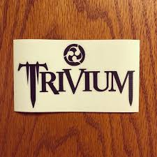 Trivium Vinyl Decal Sticker 6x3 25 Etsy