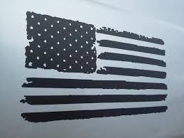 Matte Black Distressed American Flag Vinyl Decal Semistuff Com