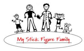 My Stick Figure Family Car Window Stickers
