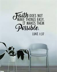 Faith Makes Them Possible Quote Wall Decal Sticker Bedroom Home Room A Boop Decals