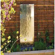 stainless wall mirror water feature